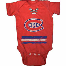 Montreal Canadiens Old Time Hockey Newborn & Infant Beeler Bodysuit - Red - NHL
