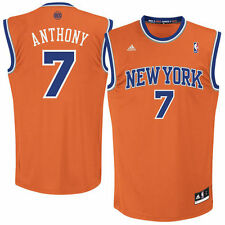 Mens New York Knicks Carmelo Anthony adidas Orange Replica Alternate Jersey