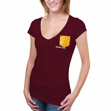 Arizona State Sun Devils Women's Team Pocket V-Neck T-Shirt - Maroon - NCAA