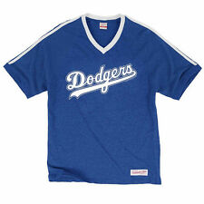 L.A. Dodgers Mitchell & Ness Take Your Base V-Neck T-Shirt - Royal Blue - MLB