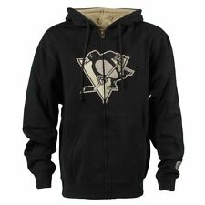 Pittsburgh Penguins Old Time Hockey Conway Full Zip Hoodie - Black - NHL