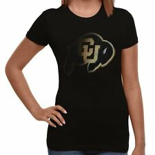 Colorado Buffaloes Women's Blackout Fitted T-Shirt - Black