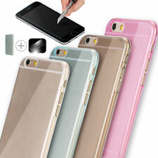 "Screen Protector Tempered Glass 4.7"" 5.5"" with Back TPU Case For iPhone 6/6 Plus"