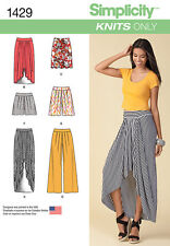 Simplicity pattern - 1429 Misses' Pull on Knit Skirt, Pants & Shorts