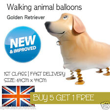 GOLDEN RETRIEVER DOG WALKING PET BALLOON ANIMAL AIRWALKER BIRTHDAY KIDS FARM
