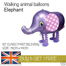 ELEPHANT PURPLE GREY WALKING PET BALLOON ANIMAL AIRWALKER BIRTHDAY KIDS FARM FUN