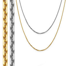 1.40mm 14k Solid Yellow Or White Gold Thick Cable Link Chain Necklace 1523BC