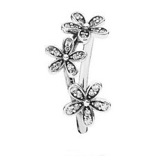 TRIPLE CRYSTAL DAISY RING .925 Sterling Silver - Choose Your Size