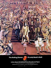 The Rolling Stones - It's Only Rock 'N' Roll - 1974 - Album Release Promo Poster
