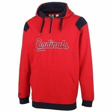 St. Louis Cardinals Big & Tall Contrast Fleece Quarter Zip Hoodie - Red - MLB