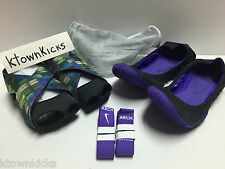 Nike Women's Studio Wrap Pack 2 Part Dance Yoga Shoes 646696 501 Grape Purple