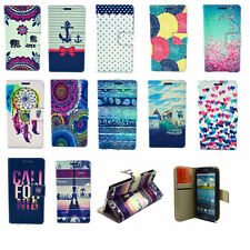 Fashion Hybrid Leather Card Stand Wallet Flip Case Cover For Various Smart Phone