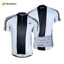 Mens Cycling Bike Jersey Short Sleeve Clothing Bicycle Shirt Top Quick Dry White