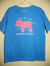 MINECRAFT CUT CHART-BOYS SIZE L (10/12)-LICENSED SHORT SLEEVE TOP-NWOT