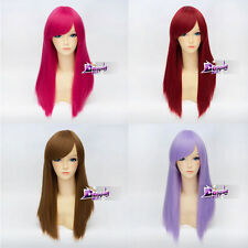 21 Color 55cm Cosplay Straight Party Wig Heat Resistant Anime Hair + Wig Cap