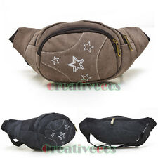 New Men Canvas Travel Hiking Shoulder Messenger Cell Phone Fanny Pack Waist  Bag