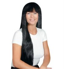"""Adult Ladies Long 30"""" Wig for 60s 70s Hippie Fancy Dress Accessory"""
