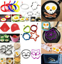 Silicone Omelette Shaper Fried Frying Egg Pancake Poach Ring Cooking Mold Mould