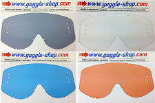 REPLACEMENT GS MOTOCROSS MX GOGGLE DRILLED ROLL-OFF LENS to fit SCOTT 89 RECOIL