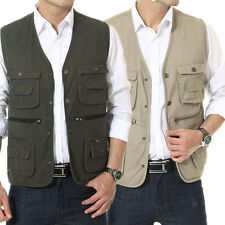 Hot Men's Casual Waistcoat Multi-pocket Vests Fishing/Photography/Director Vests