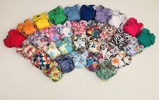 5 Happy Flute AIO Newborn Cloth Diaper with Double Gussets. Like THX /Lil Joey's