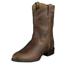 Ariat Kids Heritage Roper Distressed Brown Boots BRAND NEW