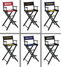 Choose NCAA Team Folding Wood & Canvas Bar Height Directors Chair by Imperial