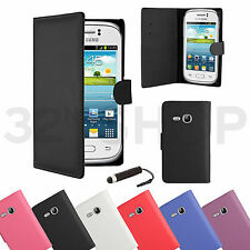 NEW WALLET LEATHER CASE COVER FOR SAMSUNG GALAXY Various Mobile Screen Protector