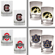 Choose NCAA Team Primary Logo 2PC 14oz Rocks Glass Tumbler Set by Great American