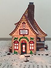 Dept 56 North Pole Series Popcorn and Cranberry Series Lighted Retired