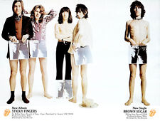 The Rolling Stones - Sticky Fingers - Brown Sugar - 1971 - Album Promo Poster