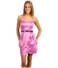 NWT Jessica Simpson Belted Tulip Mini Cocktail Party Dress Purple Strapless 8