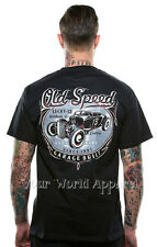 LUCKY 13 OLD SPEED OLD CUSTOM T-SHIRT BLACK HOT ROD TATTOO ROCK AND ROLL PUNK!!