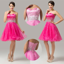 BEADED Junior Prom Graduation Pageant Cocktail Short Party Bridesmaid Gown Dress