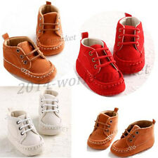 Sneaker Newborn Baby Boys Girls  Crib Shoes Infant Toddler Lace-up Unisex #BU
