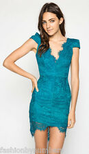 BNWT Angel Biba Teal Blue Sultry LACE Bodycon Cocktail Party Dress size 6 8 10