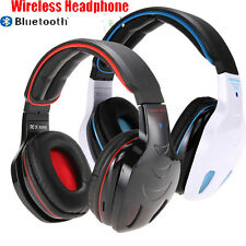 Wireless Bluetooth Stereo Headphone SD MP3 Player FM Radio Headset w/Mic For PC