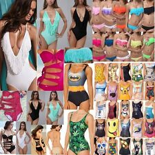 Various Women Swimwear Printed One-Piece Monokini Bikini Swimsuit Beachwear Hot