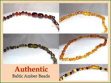 Certified Genuine Natural Baltic Amber Bead Baby Child Teething Necklace,Toddler