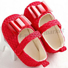 0-18 Months Adorable Bow Baby Girl Soft Sole Shoe Infant Toddler Anti-Slip #BS51