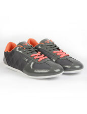 Voi Jeans Mens Trainers, Mens Voi Murano Sports Shoes Grey Orange  -  GENUINE