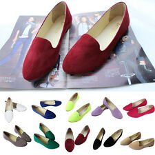 Women Canvas Ballet Flats Slip On Comfort Loafer Sneaker Running Sport Shoes NEW