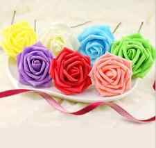 10 Head Beautiful Real Touch Rose Flower Bouquet Bridal Wedding Home Decor