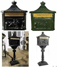 Post Letter Mail Box Aluminium Victorian Style Free Standing / Wall Mounted New