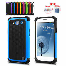 Premium Heavy Duty Hard Tough Case Cover for Samsung Galaxy S3 SIII i9300