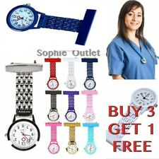Steel Quartz Watch Nurse Watch Brooch Tunic Doctor Fob Watch Medical Watch B3