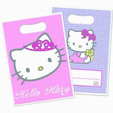 Hello Kitty Princess Plastic Party Loot Bags Gift Girls in Packs of 8/16/24/48