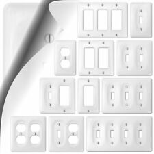 Wall Switch Plate Cover Allena White Ceramic Outlet Toggle Decora Rocker Kitchen