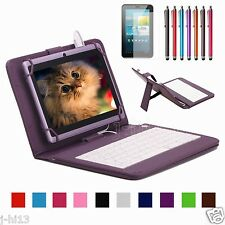 "Micro Keyboard Leather Case Cover+Gift For 7"" Proscan 7 Inch Android Tablet"