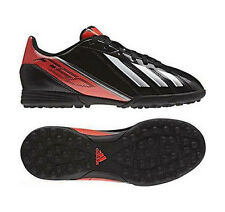 New Boys Adidas F5 TRX TF Astro Turf Football Sports Trainers Black Red